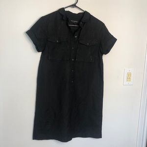 Banana Republic Linen Shirtdress Black Size 4